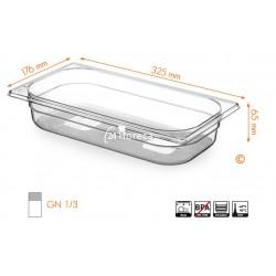 Gastronormbak 1/3 65mm Tritan BPA vrij