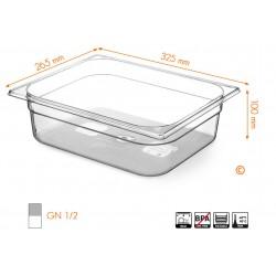 Gastronormbak 1/2 100mm Tritan BPA vrij