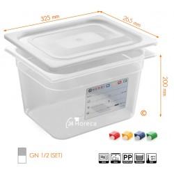 HACCP Voorraaddoos GN 1/2 200mm set