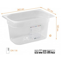 HACCP Voorraaddoos GN 1/4 150mm