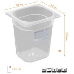HACCP Voorraaddoos GN 1/6 200mm