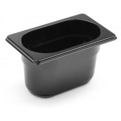 Gastronormbak 1/9 100mm Polycarbonaat Zwart
