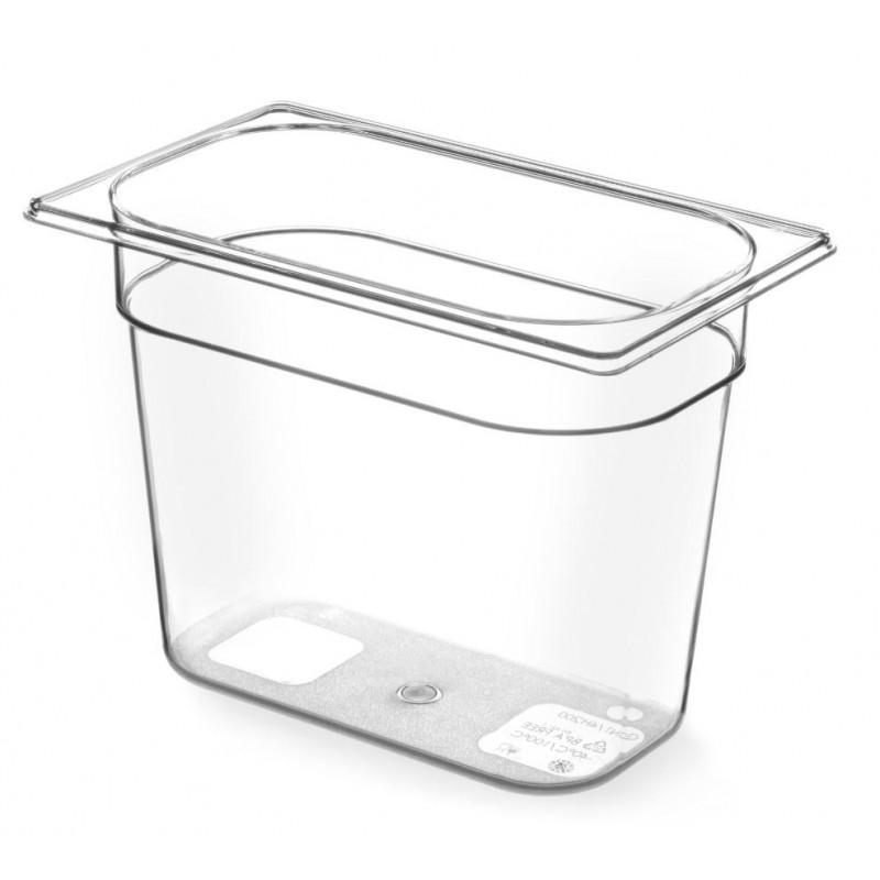 Gastronormbak 1/4 100mm Tritan BPA vrij