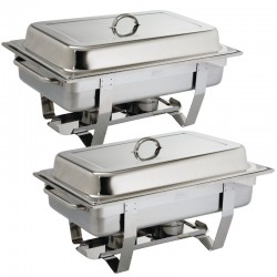 2 x Chafing Dish Bain Marie GN1/1 ACTIE